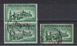 R.S.I.:  1944  EX. DUOMO  DI  PALERMO  -  £. 1,25  VERDE US. -  RIPETUTO  3  VOLTE  -  SASS. 23 - 4. 1944-45 Repubblica Sociale