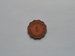 1943 - One Piastre () KM 23a ( For Grade, Please See Photo ) ! - Chypre