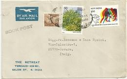 SALEM DT.    INDIA    ST.  POSTALE  X  PRATO  FI.  MITTENTE  SCONOSCIUTO     IT.   1982 - India