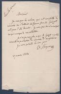 Correspondance Et Autographe De Edmond Bignon 1828 - Autographes