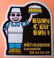 AUTOCOLLANT STICKER - BELON C'EST BON - PATISSERIE COURNON - 63 - Autocollants