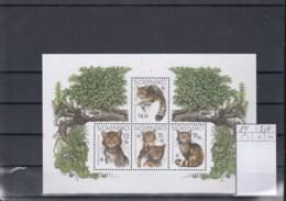 Slowakei (BBK) Michel Cat.No. Mnh/**  Sheet 14 Wwf Issue Cats - Blocs-feuillets