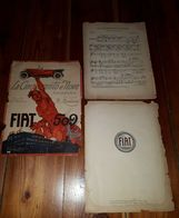 1925 Spartito Musicale FIAT LA 509 - MUSICA - OPERA - ART DECO - PUBBLICITA' - Spartiti