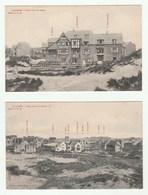 La Panne - 2 CPA 1900/10s-  Villas Dans Les Dunes - Albert Sugg Serie 41 N. 76 Et 45 - De Panne