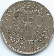 Bolivia - 5 Centavos - 1908 - KM173.3 - Bolivia