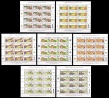 MONGOLIA [2018] Fauna Flora Landscapes - Set Of 7 Full Sheets (MNH) - Francobolli