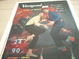 ANCIENNE PUBLICITE  C EST SI BON SODA VERIGOUD 1958 - Afiches