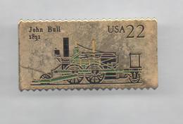 PINS PIN'S TIMBRE USA 22 TRAIN LOCOMOTIVE JOHN BULL 1831 41 X 21 MMS - Pin's