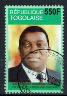Togo, President Eyadema, 550f., 2004, VFU  Nice Postmark - Togo (1960-...)