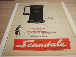 ANCIENNE  PUBLICITE TULLE ELASTIQUE  GAINE SCANDALE  1958 - Vintage Clothes & Linen