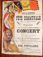 Sars-La -Buissière Fête Communale  En 1905 - Affiches