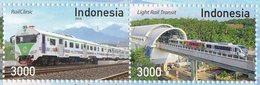 INDONESIA 2018-8 TRAINS LOKOMOTIVE RAILROADS SET STAMPS MNH - Indonesia