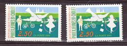 France 2690 Variétés Impression Décalée Vers Le Bas Cerceau Blanc... Et Normal  Neuf ** TB MNH Sin Charnela - Varietà: 1990-99 Nuovi