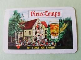 Vieux Temps Brasserie J.grade Mont Saint-guibert Carte à Jouer Jeu De  Carte - Other