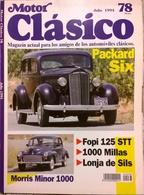CA013 Autozeitschrift Motor Clásico, Nr. 78, 1994, Spanisch, Neuwertig - Magazines & Newspapers