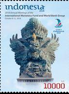 INDONESIA 2018-9 IMF WORLD BANK MEETING GARUDA WISNU KENCANA BIRD SET STAMPS MNH - Indonesia