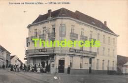 CPA KNOKKE KNOCKE  SUR MER SOUVENIR HOTEL DU CYGNE ( DECHIRURE - SCHEUR  ) - Knokke