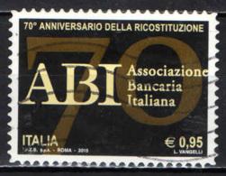 ITALIA - 2015 - ABI - ASSOCIAZIONE BANCARIA ITALIANA - USATO - 2011-...: Afgestempeld