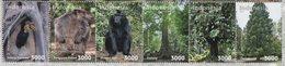 INDONESIA 2018-11 FLORA FAUNA HORNBILL BIRD KANGAROO MONKEY FOREST SET STAMPS MNH - Indonesia