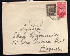COLONIE ITALIANE LIBIA 11 6 1940 POSTA AEREA AIR MAIL CENT. 50 + PITTORICA CENT. 50 LETTERA COVER - Libya