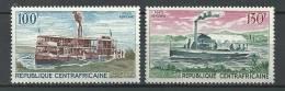 """Centrafrique Aerien YT 65 & 66 (PA) """" Vapeurs Fluviaux """" 1968 Neuf** - Centrafricaine (République)"""