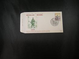 "BELG.1966 1367 FDC ( Bruxelles)  : ""  Journée Du Timbre/Dag Van De Postzegel 1966  "" - 1961-70"