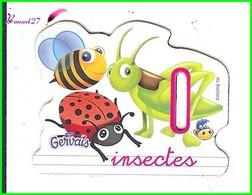 """Magnet Pochoir GERVAIS L'Alphabet De La Ferme Animaux Fruits Produits """" Le I De Insectes """" - Letters & Digits"""
