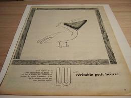 ANCIENNE PUBLICITE BISCUIT LEFEVRE UTILE LU 1957 - Affiches