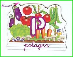 """Magnet Pochoir GERVAIS L'Alphabet De La Ferme Animaux Fruits Produits """" Le P De Potager """" - Letters & Digits"""