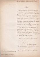 Second Empire Ensemble De 7 Documents Adressés à Napoléon III - Handtekening