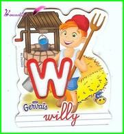 """Magnet Pochoir GERVAIS L'Alphabet De La Ferme Animaux Fruits Produits """" Le W De Willy """" Le Fermier - Letters & Digits"""