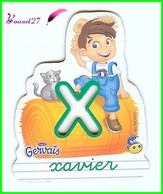 """Magnet Pochoir GERVAIS L'Alphabet De La Ferme Animaux Fruits Produits """" Le X De Xavier """" Le Fermier Chat - Letters & Digits"""