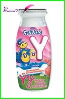 """Magnet Pochoir GERVAIS L'Alphabet De La Ferme Animaux Fruits Produits """" Le Y De Yaourth  """" - Letras & Cifras"""