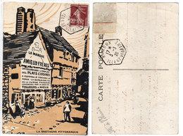 """La Marque AMIEUX Frèrs"""" La Bretagne Pittoresque - Cachet Octogonal De RIMOUX (Ille Et Vilaine)  (112550) - Publicité"""