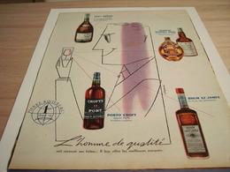 ANCIENNE PUBLICITE HOMME DE QUALITE PIERRE RIVIERE 1958 - Alcohols