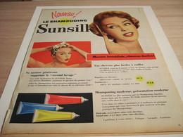 ANCIENNE PUBLICITE SHAMPOOING SUNSILK 1957 - Perfume & Beauty