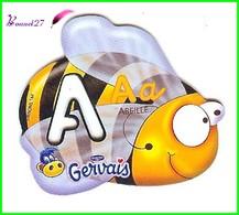 """Magnet Pochoir GERVAIS L'Alphabet Avec Les Animaux """" Le A De Abeille """" - Letters & Digits"""