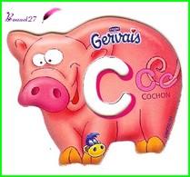 """Magnet Pochoir GERVAIS L'Alphabet Avec Les Animaux """" Le C De Cochon """" - Letters & Digits"""