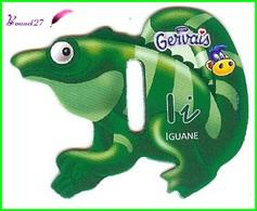"""Magnet Pochoir GERVAIS L'Alphabet Avec Les Animaux """" Le I De Iguane """" - Letters & Digits"""