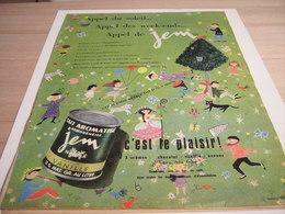 ANCIENNE PUBLICITE UNIQUE CHOCOLATE JEM DE NESTLE 1957 - Afiches