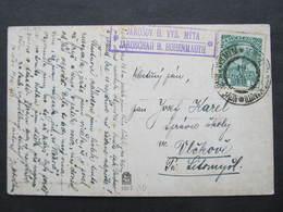 KARTE Nove Hrady Vysoke Myto Postablage Jarosov 1913 ///   D*37711 - Lettres & Documents