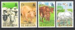 St Helena 1990 Farm Animals MNH CV £4.60 - Saint Helena Island