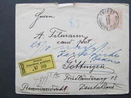 GANZSACHE Trieste - Göttingen Irrläufer Karlsruhe 1897 ///   D*37714 - 1850-1918 Imperium