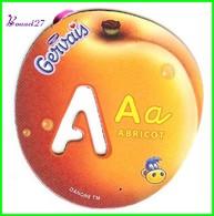 """Magnet Pochoir GERVAIS L'Alphabet Avec Les Fruits Et Les Légumes """" Le A De Abricot  """" - Letters & Digits"""