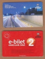 AC - BUS, TRAM DOUBLE RIDE CARD AYDINLIK EVLER KOPRULU KAVSAGI KONYA, TURKEY - Transportation Tickets
