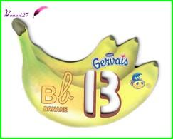 """Magnet Pochoir GERVAIS L'Alphabet Avec Les Fruits Et Les Légumes """" Le B De Banane  """" - Letters & Digits"""