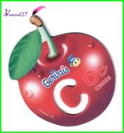 """Magnet Pochoir GERVAIS L'Alphabet Avec Les Fruits Et Les Légumes """" Le C De Cerise  """" - Letters & Digits"""