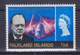 Falkland Islands 1966 Mi. 153    ½ D. Winston Spencer Churchill MNH** - Falklandinseln