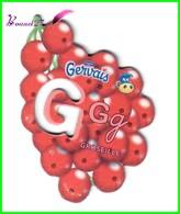 """Magnet Pochoir GERVAIS L'Alphabet Avec Les Fruits Et Les Légumes """" Le G De Groseille """" - Letters & Digits"""
