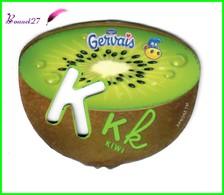 """Magnet Pochoir GERVAIS L'Alphabet Avec Les Fruits Et Les Légumes """" Le K De Kiwi """" - Letters & Digits"""
